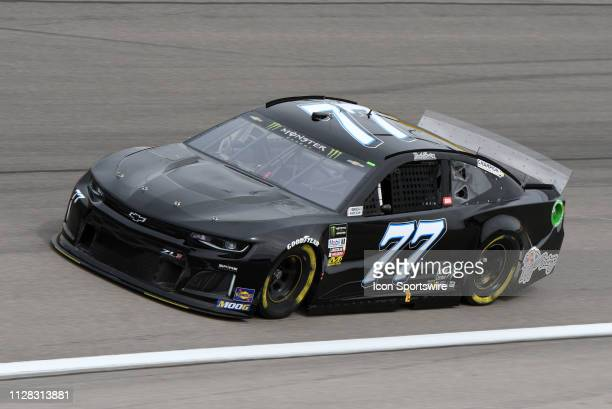 Reed Sorenson Spire Motorsports Chevrolet Camaro ZL1 drives through turn four during practice for the Monster Energy NASCAR Cup Series 22nd Annual...