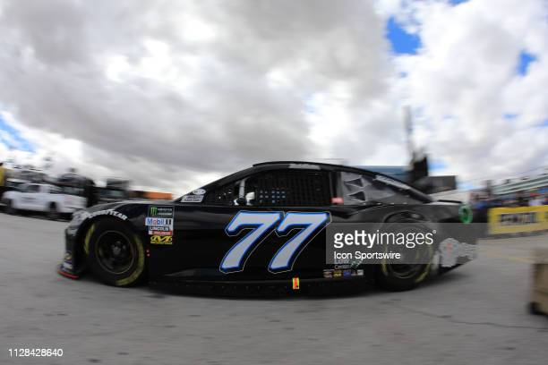 Reed Sorenson Spire Motorsports Chevrolet Camaro ZL1 during practice for the Monster Energy NASCAR Cup Series Pennzoil 400 on March 2 at Las Vegas...