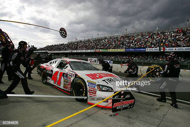 Reed Sorenston pits his Discount Tire Co. Dodge Intrepid during the Telcel Mexico 200 Nascar Busch Series Race at the Autrodromo Hermanos Rodriguez...