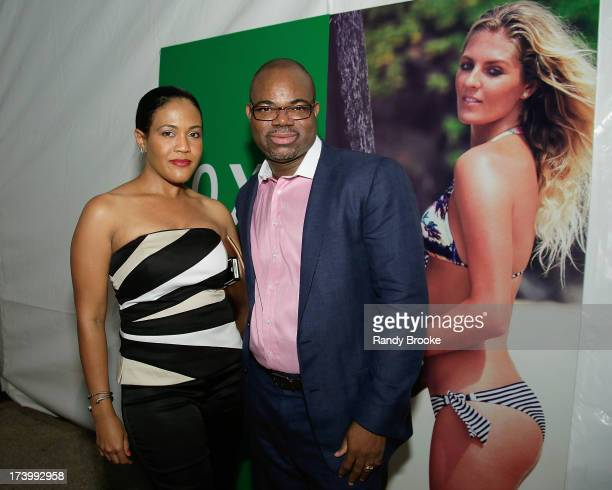 Reel Code Media's Alexia Jones and Isaac Daniel At MercedesBenz Fashion Week Swim 2014 Kick Off Party at Raleigh Hotel on July 18 2013 in Miami Beach...