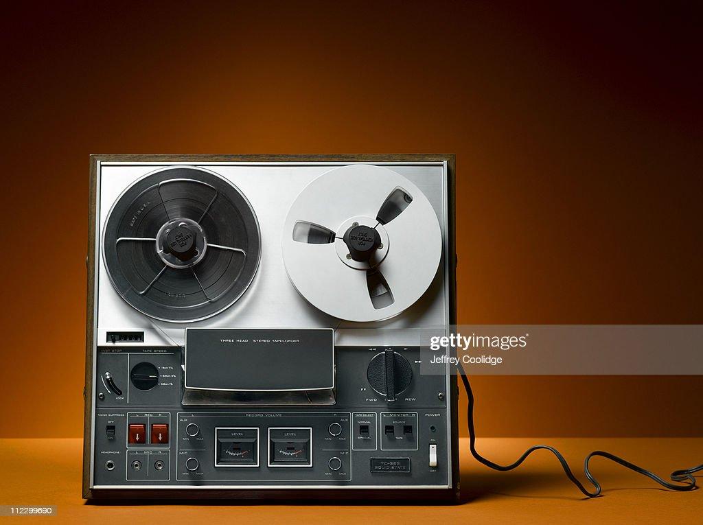 Reel to Reel Tape Deck : Stock Photo