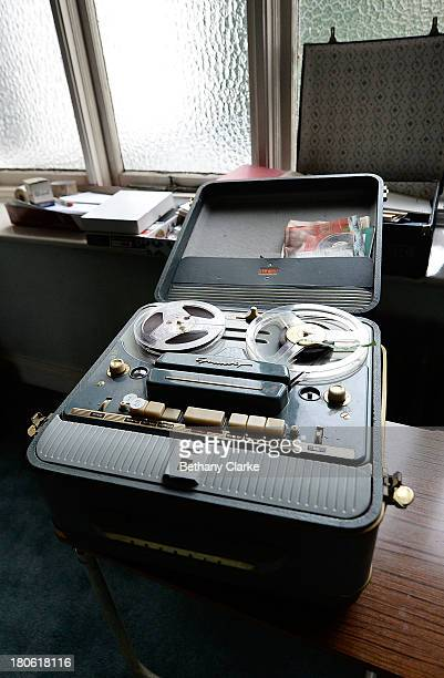 A reel to reel tape player in a room in Pineheath house on September 4 2013 in Harrogate England The untouched 40bedroom house belonged to wealthy...