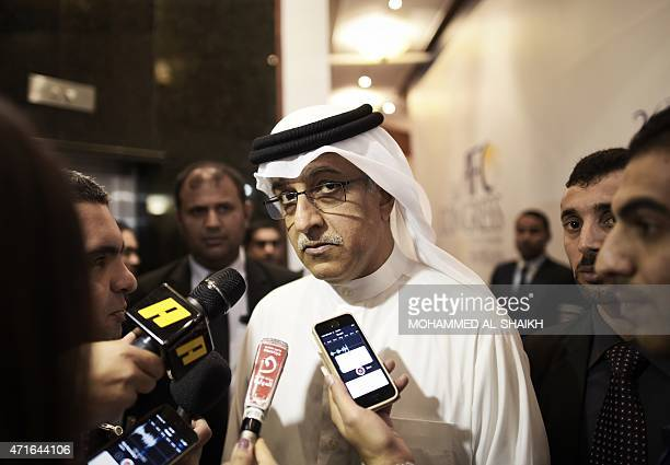 Reelected president of the Asian Football Confederation Salman bin Ebrahim al Khalifa speaks to journalists at the end of the AFC regional Congress...