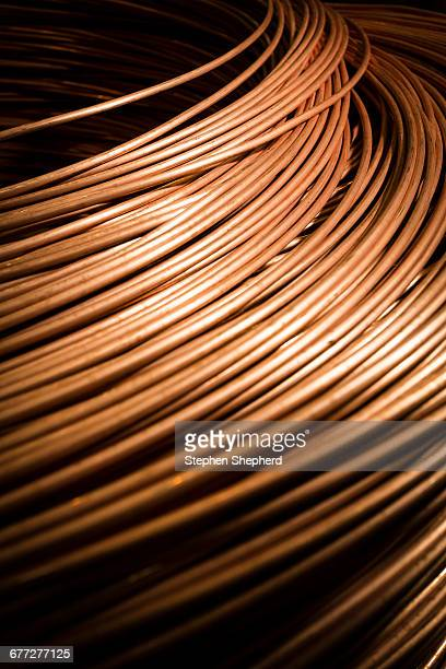 Reels of cable and wire at a large industrial and