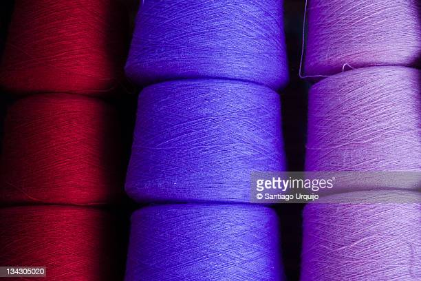 Reels of colorful thread