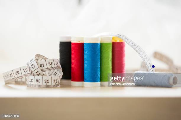 6 reels of threads with measuring tape, Nancy, France
