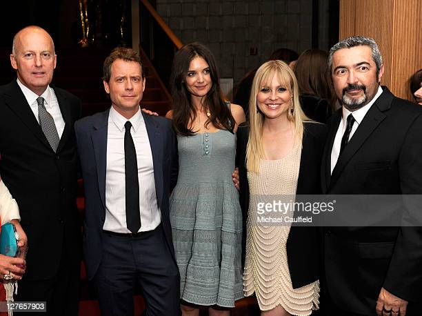 "ReelzChannel CEO Stan E. Hubbard, actors Greg Kinnear, Katie Holmes and Kristin Booth and Director Jon Cassar attend the after party for ""The..."