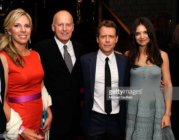 "ReelzChannel Stan E. Hubbard, actors Greg Kinnear and Katie Holmes attend the after party for ""The Kennedys"" world premiere held at AMPAS Samuel..."