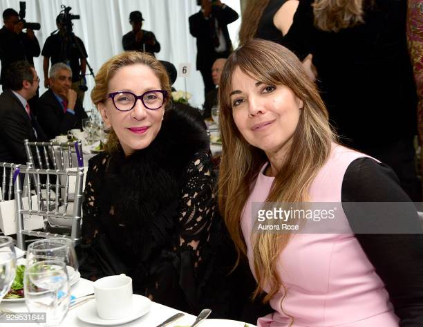 Reem Acra and Rema DuPont Pose at the UNWFPA Annual Awards Luncheon on March 8 2018 in New York City