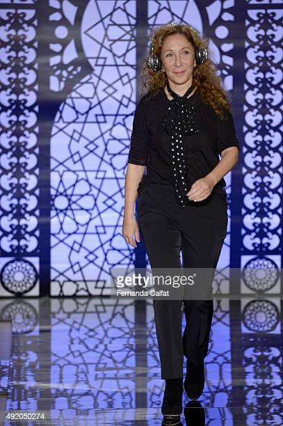 Reem Acra walks at Reem Acra Bridal Fall/Winter 2016 Runway Show on October 9 2015 in New York City