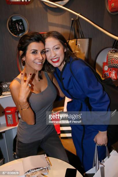 Reem Kherici and Emyra Ayed aka La Crazy Revolution attend Reem Kherici signs her book Diva at the Barbara Rihl Boutique on November 8 2017 in Paris...