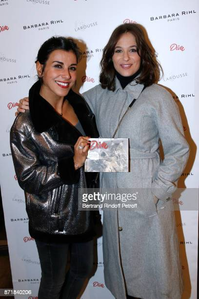 Reem Kherici and Melanie Bernier attend Reem Kherici signs her book 'Diva' at the Barbara Rihl Boutique on November 8 2017 in Paris France