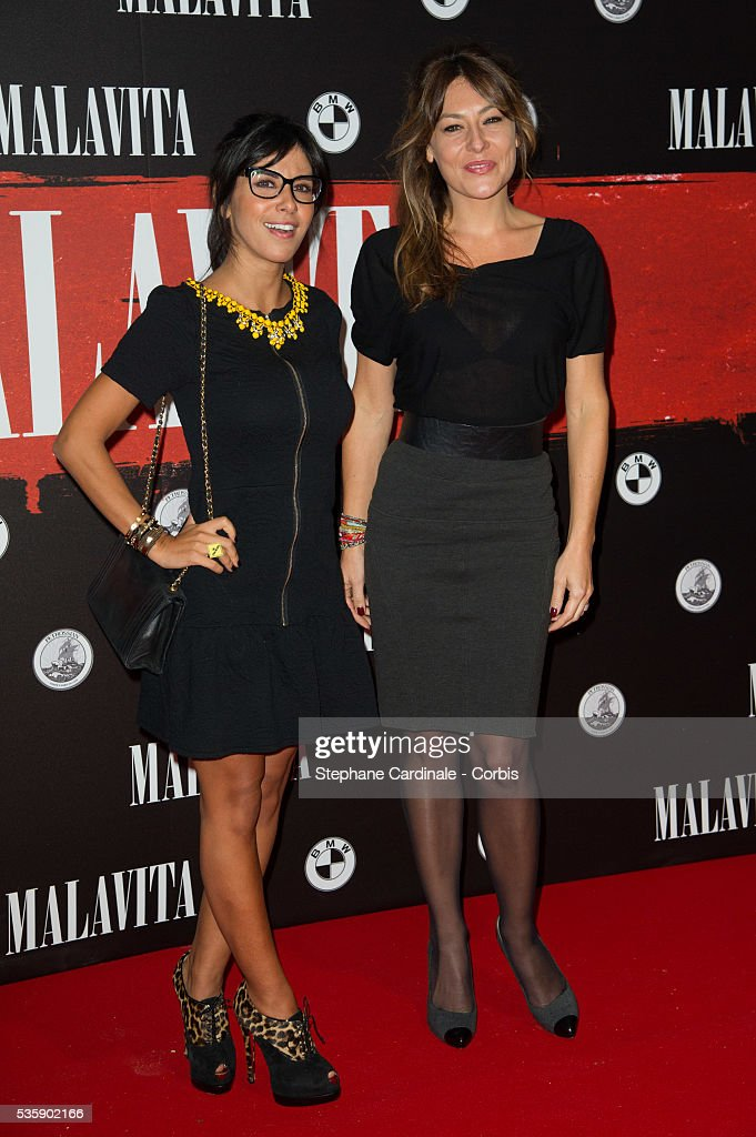 Reem Kherici and Shirley Bousquet attend the 'Malavita' premiere at Europacorp Cinemas at Aeroville Shopping Center, in Roissy-en-France, France.