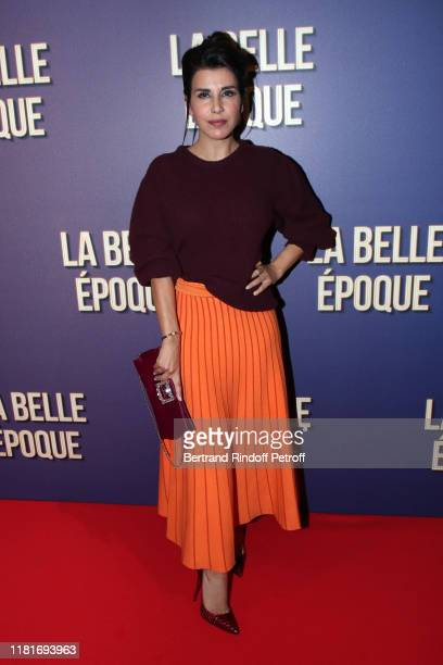 "Reem Kherici attends the ""La Belle Epoque"" Premiere at cinema Gaumont Opera Capucines on October 17, 2019 in Paris, France."