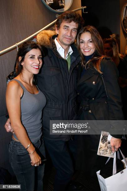 Reem Kherici Eric Altmayer and Nadia Fares attend Reem Kherici signs her book 'Diva' at the Barbara Rihl Boutique on November 8 2017 in Paris France