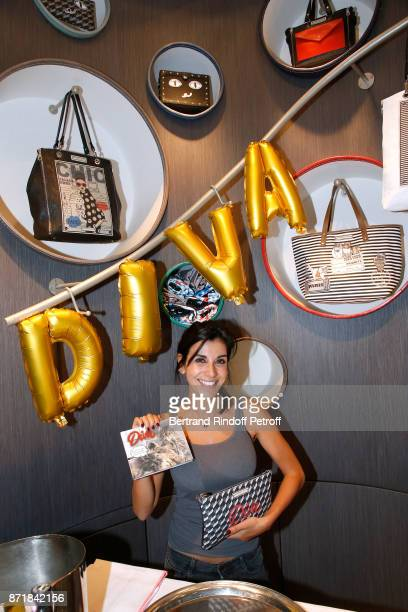 Reem Kherici signs her book Diva at the Barbara Rihl Boutique on November 8 2017 in Paris France