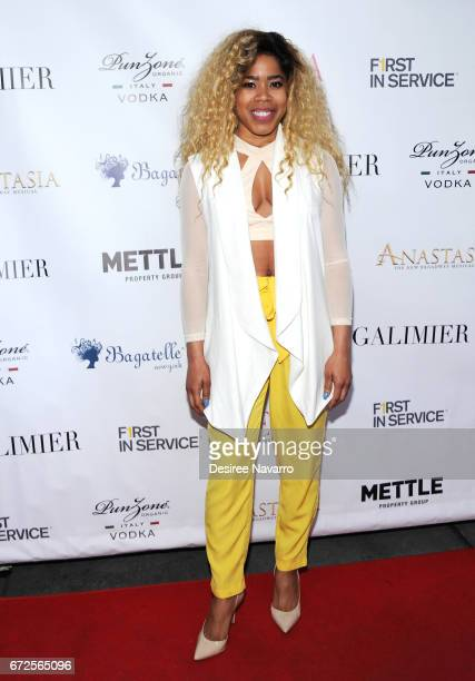 K'reema attends BELLA New York Spring Issue cover party hosted by Kelly Osbourne at Bagatelle on April 24 2017 in New York City