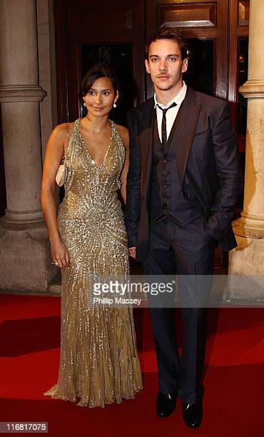Reena Hammer and Jonathan Rhys Meyers arrive for the Irish Film Television Awards in the Gaiety Theatre on February 17 2008 in Dublin Ireland