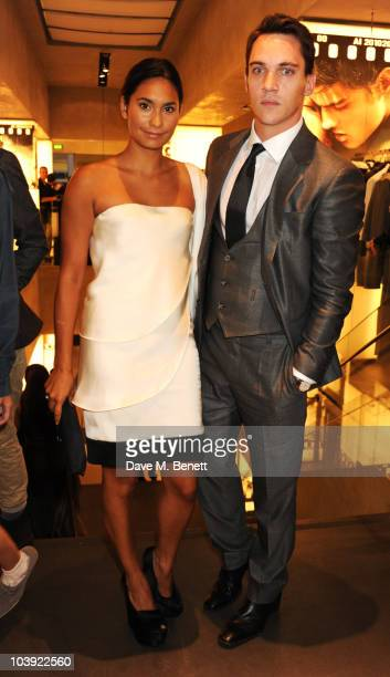Reena Hammer and Jonathan Rhys Meyers attend Fashion's Night Out At Armani on September 8 2010 in London England