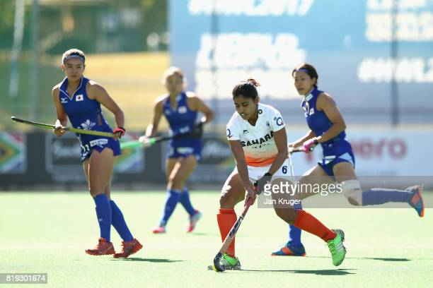 Reena Khokhar of India in action during the 5th8th Place playoff match between India and Japan during Day 7 of the FIH Hockey World League Women's...