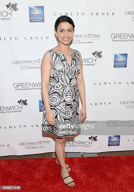 Reena Ninan attends Women at the Top Female Empowerment in Media Panel at the 2016 Greenwich International Film Festival on June 12 2016 in Greenwich...