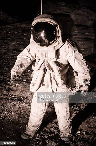 reenactment moon landing during apollo mission - historical reenactment stock pictures, royalty-free photos & images
