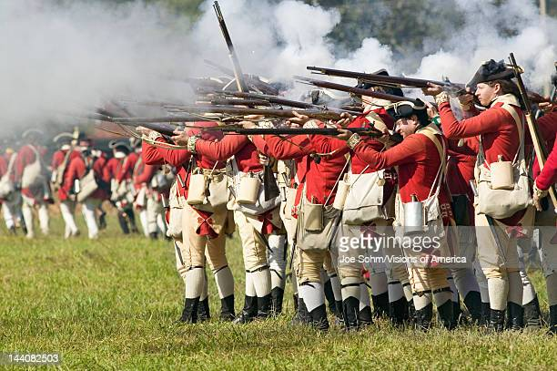 Reenactment of Attack on Redoubts 9 10 where the major infantry action of the siege of Yorktown took place General Washington's armies captured two...