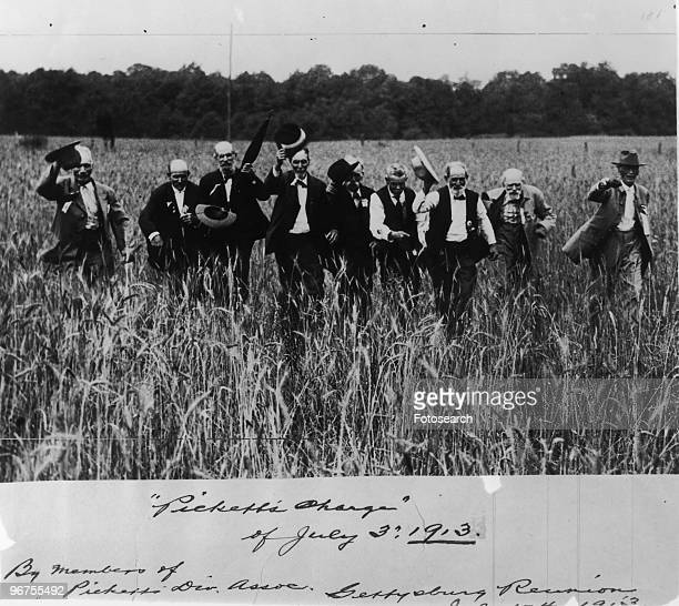 Reenactment of Pickett's Charge marking the 50th anniversary was an infantry assault at the Battle of Gettysburg ordered by Confederate Gen Robert E...