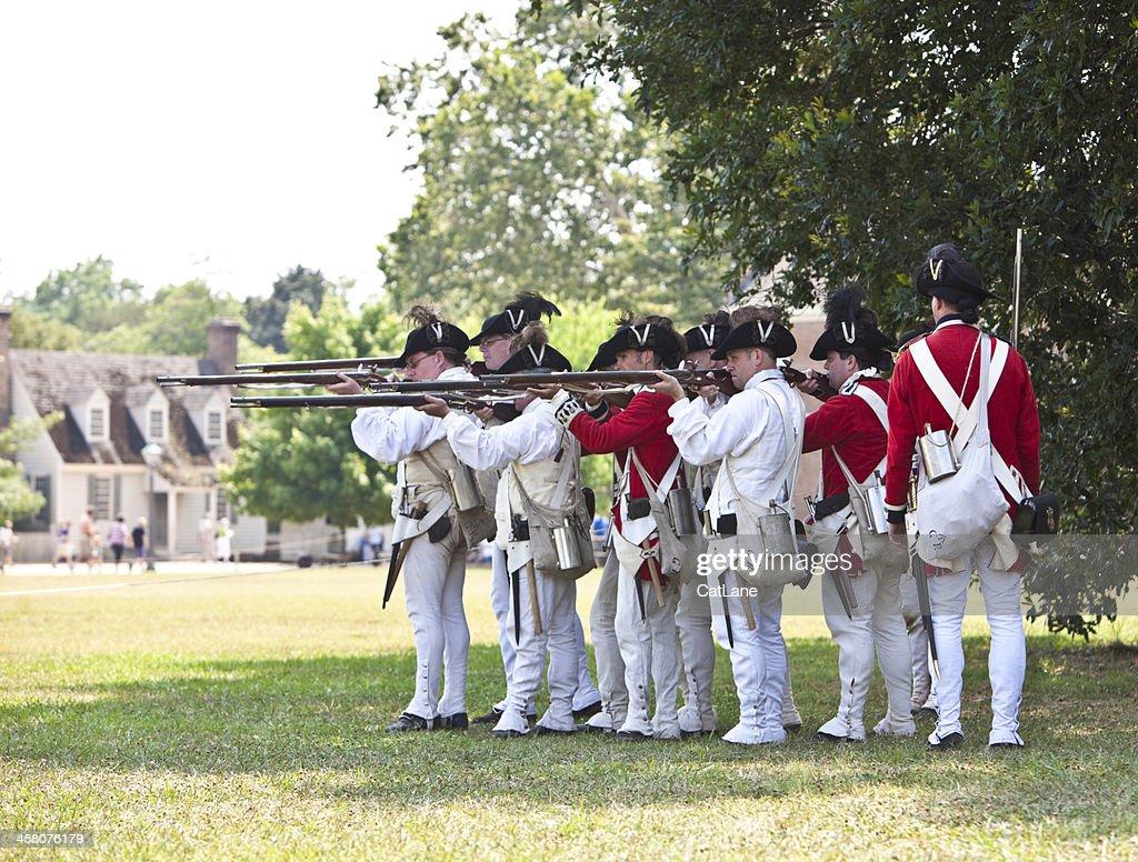 Reenactment of Redcoats Seizing Williamsburg : Stock Photo