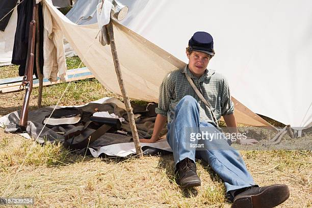 reenactment - civil war stock pictures, royalty-free photos & images
