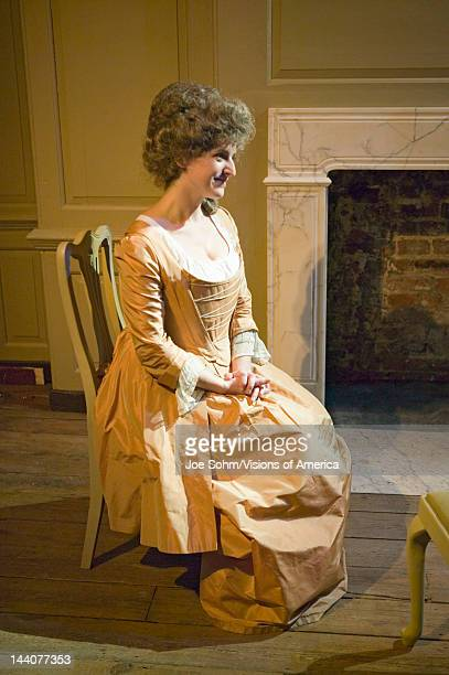 Reenactor sits in the Benjamin Franklin House, the world's only remaining Franklin home, For nearly sixteen years between 1757 and 1775, Dr Benjamin...
