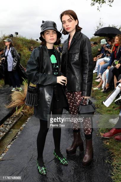 Reese and Molly Blustein attend the Marine Serre Womenswear Spring/Summer 2020 show as part of Paris Fashion Week on September 24 2019 in Paris France