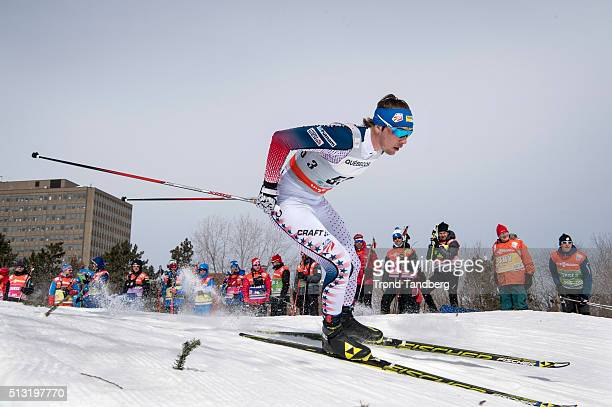Reese Hanneman of USA during Cross Country Men 17 km Sprint Free on March 01 2016 in Gatineau Quebec Canada