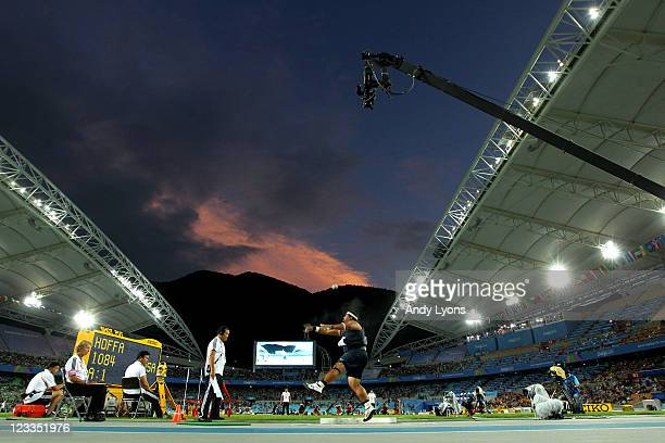Reese Hoffa of the USA competes in the men's shot put final during day seven of 13th IAAF World Athletics Championships at Daegu Stadium on September...