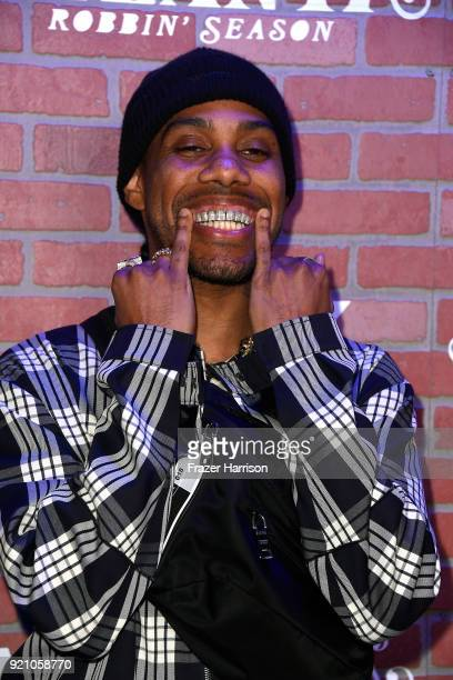 Reese LAFLARE attends the premiere for FX's Atlanta Robbin' Season at The Theatre at Ace Hotel on February 19 2018 in Los Angeles California