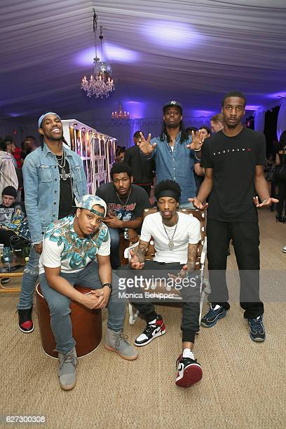 Reese Laflare Landstrip Chip Sonny Digital Woah Brandon Thomas and DJ Campus Legend attend In Focus Hip Hop Through The Lens Of Photographer...