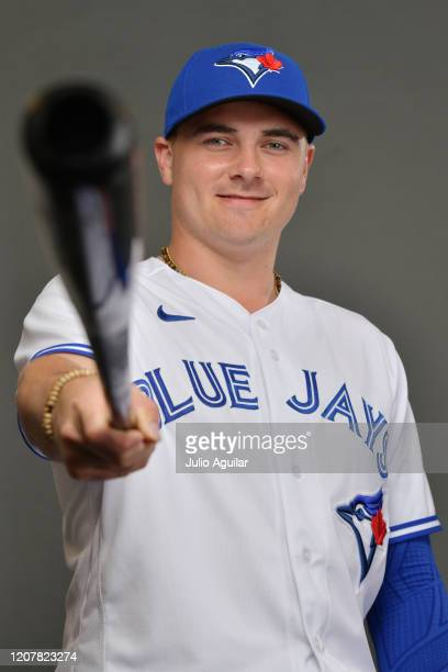 Reese McGuire of the Toronto Blue Jays poses during Photo Day at TD Ballpark on February 21 2020 in Dunedin Florida