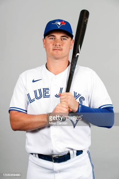 Reese McGuire of the Toronto Blue Jays poses during Photo Day on Friday February 21 2020 at Dunedin Stadium in Dunedin Florida