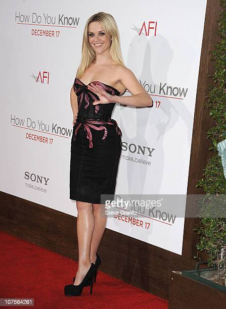 Reese Witherpoon attends the How Do You Know Los Angeles Premiere at Regency Village Theatre on December 13 2010 in Westwood California