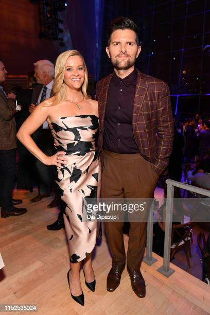"Reese Witherspoon and Adam Scott attend the ""Big Little Lies"" season 2 premiere after party on May 29, 2019 in New York City."