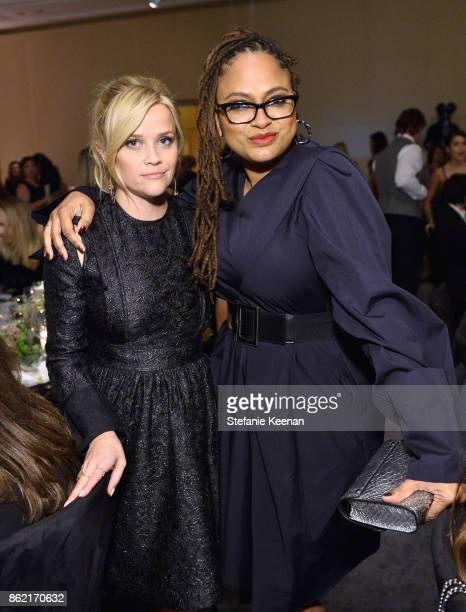 Reese Witherspoon and Ava DuVernay attend ELLE's 24th Annual Women in Hollywood Celebration presented by L'Oreal Paris Real Is Rare Real Is A Diamond...