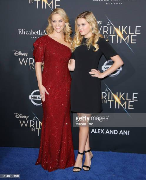 Reese Witherspoon and Ava Phillippe arrive at the Los Angeles premiere of Disney's 'A Wrinkle In Time' held at El Capitan Theatre on February 26 2018...