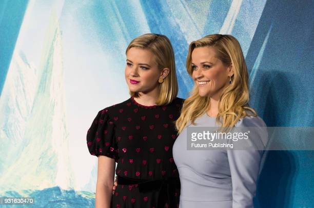 Reese Witherspoon and Ava Phillippe arrive for the European film premiere of 'A Wrinkle in Time' at the BFI Imax cinema in the South Bank district of...