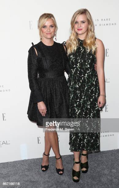 Reese Witherspoon and Ava Phillippe attend ELLE's 24th Annual Women in Hollywood Celebration at Four Seasons Hotel Los Angeles at Beverly Hills on...