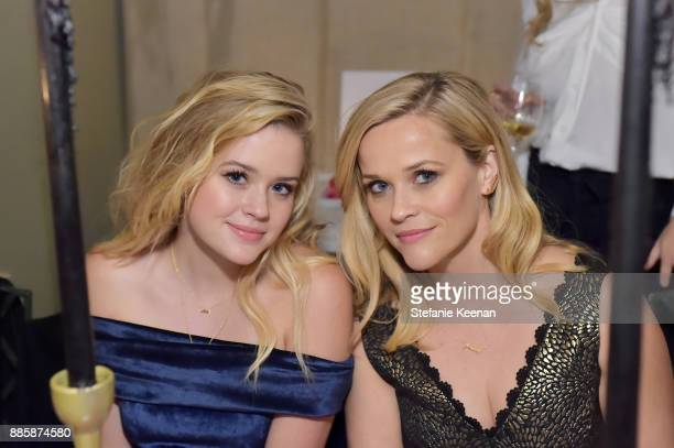 Reese Witherspoon and Ava Phillippe attend Molly R. Stern X Sarah Chloe Jewelry Collaboration Launch Dinner on December 4, 2017 in West Hollywood,...