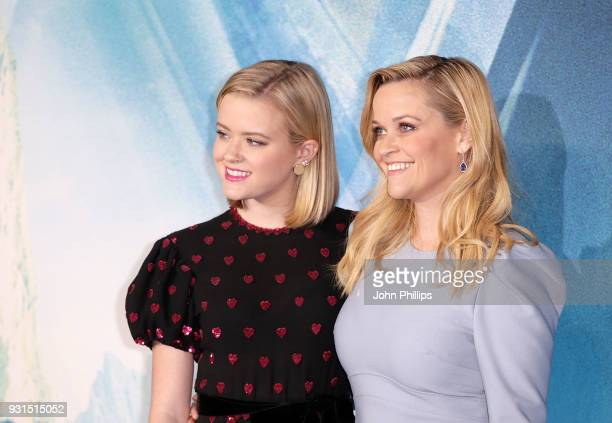 Reese Witherspoon and Ava Phillippe attend the European Premiere of 'A Wrinkle In Time' at BFI IMAX on March 13 2018 in London England
