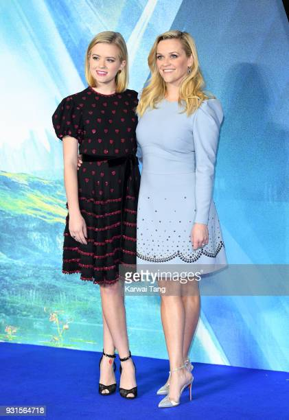 Reese Witherspoon and daughter Ava Phillippe attend the European Premiere of 'A Wrinkle In Time' at BFI IMAX on March 13 2018 in London England