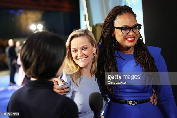 Reese Witherspoon and Director Ava Duvernay attend the European premiere of Disney's 'A Wrinkle In Time' at BFI IMAX on March 13 2018 in London...