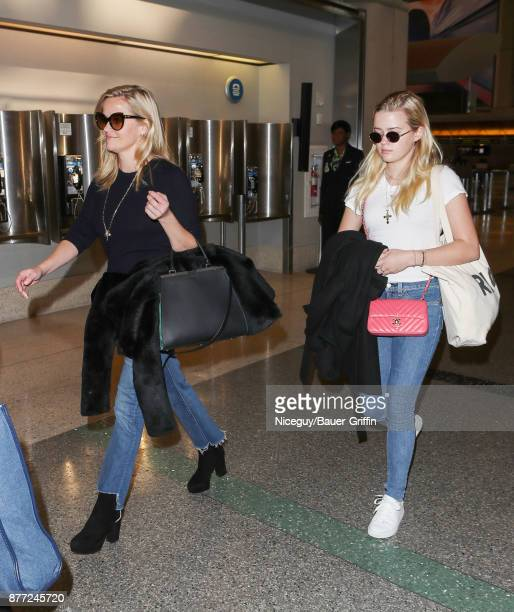 Reese Witherspoon and her daughter Ava Phillippe are seen on November 21 2017 in Los Angeles California