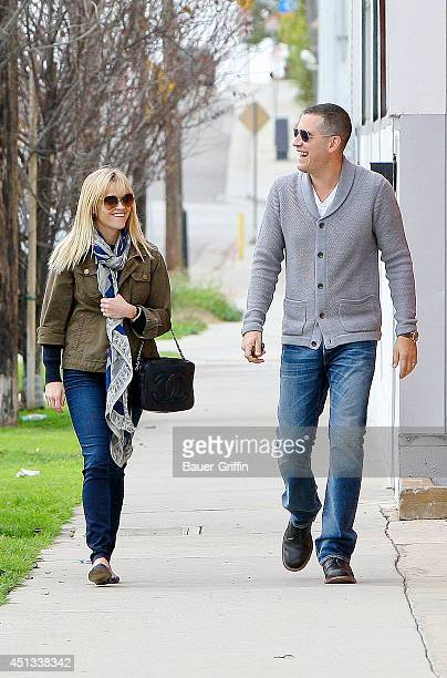 Reese Witherspoon and her husband Jim Toth are seen on January 22, 2012 in Los Angeles, California.